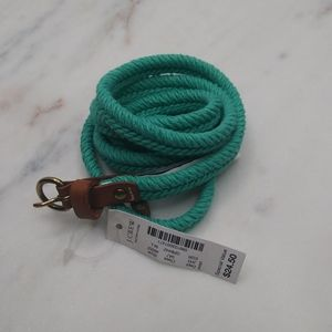 🆕J. Crew Women's Teal Cotton Braided Rope Belt